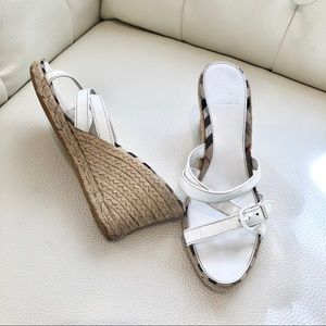 Burberry Wedge Sandals